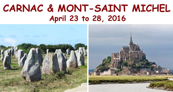 Carnac Mont Saint Michel tour